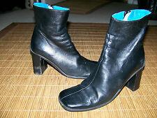 FORNARINA schwarze Leder Stiefellette 36 UK 3,5 weich Damen Stiefel elegant Y