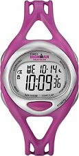 Timex Women's T5K759 Ironman Fuchsia Sleek 50 Lap Chronograph Sport Watch