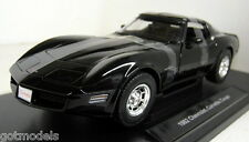 Nex 1/18 Scale 12546W 1982 Chevrolet Corvette Stingray Black Diecast model car