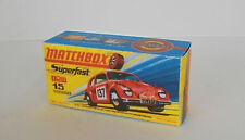 Repro Box Matchbox Superfast Nr. 15 Volkswagen rot