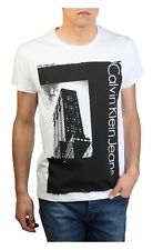 Calvin Klein Jeans XL T-Shirt Men's White New York City Graphic Size X-Large