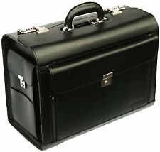 New Black Business Executive Laptop Travel Work Flight Pilot Bag Case Briefcase