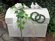 Briefbox mit Verschluß creme weiß Geldgeschenke Hochzeit Tauben Eheringe