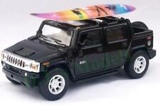 Diecast 1:40 Hummer H2 SUT 2005 with surf board in black