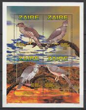Zaire (Kongo) - Michel-Nr. 1261-1264 A postfrisch/** als Kleinbogen (Greifvögel)
