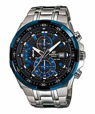 EFR-539D-1A2 Black Blue Casio Men's Watch Edifice Brand-New 100M Chronograph