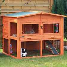 Extra Large Wooden Rabbit Hutch Guinea Pig Cage With Run Nesting Box Animal Home