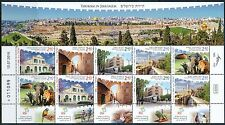 ISRAEL 2016 TOURISM IN JRUSALEM STAMPS IRREGULAR SHEET MNH
