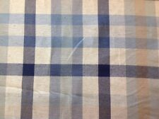 Laura Ashley Bude Check In Midnight Cotton Curtain Fabric By The Metre