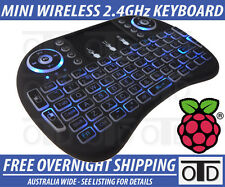 Mini Wireless 2.4Ghz Keyboard Mouse Remote Backlit for Raspberry Pi PC / Android
