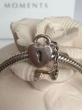 PANDORA TWO TONE STERLING SILVER & 14ct GOLD KEY TO MY HEART CHARM #790288