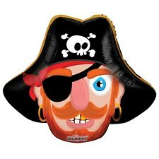 """Pirate Birthday Party Decoration Pirate Shaped Air Fill 14"""" Foil Balloon"""