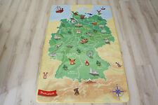 Kinder Teppich Spielteppich Deutschland Karte 140x200cm