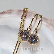 ELEGANT & WEIBLICH ● Zirkonia Durchzieher Ohrringe Ohrstecker ygf 14k Gold 585