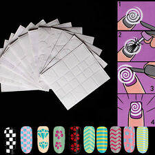 12 Sheets French Manicure Nail Art Tips Form Fringe Guides Sticker DIY Stencil
