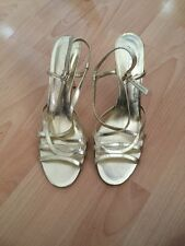 Womens Gold Strappy Aldo High Heels Size Uk 8 Party Shoes Designer