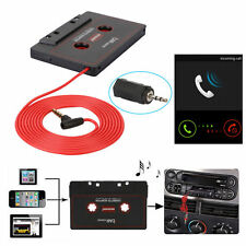 Car Audio Cassette Tape Adapter 3.5mm AUX For iPhone iPod MP3 HTC CD Player Mic