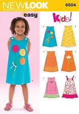 NEW LOOK SEWING PATTERN MISSES' EASY KIDS DRESS APPLIQUÉ SIZES 3 - 8  6504