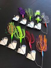 8x 1/2oz Buzzbaits Spinnerbaits Fishing Lures Cod Bass Spinners Baits Buzz Perch