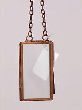 8,5 x 4,5 cm   Bilderrahmen zum hängen Farbe Kupfer Metall - Glas