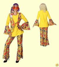 Damen Kostüm Hippie Gr. 46/48 Flower Power Anzug Summertime bunt 70er Jahre