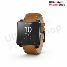 Sony SmartWatch 2 SW2 Brown Silicone Strap For Android 4.0+ - Brand New
