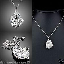 Kristall Schlange Anhänger Damen Halskette Platin Swarovski Element Geschenk 155