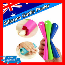1X New Magic Silicone Garlic Peeler Peel Easy Kitchen Tool AU