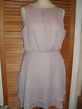 BNWOT ASOS Nude Pink Double Layered Floaty Chiffon Dress UK 12