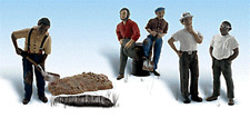 COUNCIL WORKERS 1 man crew 5 figures 7 piece HO 1/87 scale Woodland Scenics 1927