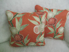 """ANEKO BY HARLEQUIN 1 PAIR OF 18"""" CUSHION COVERS - DOUBLE SIDED & PIPED"""