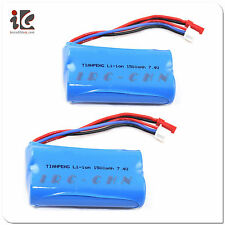 2X 7.4V 1500mAh Li-ion BATTERY FOR WLTOYS V913 Remote Control Helicopter