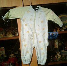 Baby Strampler Schlafanzug Größe 56 hellblau grün Creation Stummer