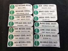 Edsel Dealership Advertising Sticker