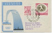 PL 1956 Kab.-R-Erst- und Sonderflug mit LOT zur Olympische Spiele in MELBOURNE