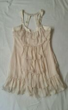 As New Cooper St Myer Cream White Ruffled Party Tiered Layer Mini Dress Size 12