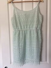 Lovely Mint Green strappy Lace party Dress Size S  8 H&M Look