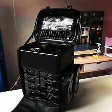 NEW!! PU leather makeup Cosmetic Beauty Trolley Case with drawers, Hairdresser