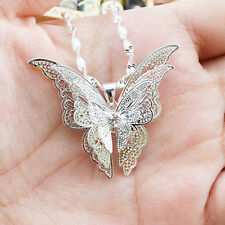 1PC Exquisite Fashion Silver Plated Butterfly Pendant For Necklace Jewelry Charm