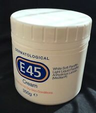E45 Dermatological Cream 350g Dry Skin Face Body Moisturiser Health Beauty New
