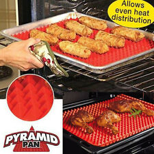 Pyramid Pan Non Stick Fat Reduce Silicone Cooking Mat Oven Baking Tray Sheet Hot