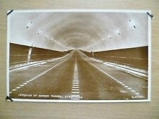 Real Photo Postcard- INTERIOR OF MERSEY TUNNEL, LIVERPOOL