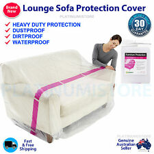 2 x Furniture Protection Cover Plastic Storage Bag 3S Lounge Couch Sofa Bed XL