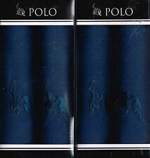 4 POLO Mens Quality Embroidered Handkerchiefs, Cotton Hankies, 2 x 2 packs Boxed