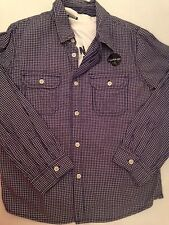 Bnwt Smart Casual Navy Check Shirt & T-shirt Set New With Tags Age 9 - 10 Years