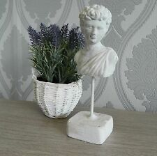 Bust Figurine Sculpture Greek Home Accessory Ornate Shabby Vintage Chic Stone