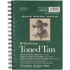 "Tan 50 Sheets - Strathmore Toned Sketch Spiral Paper Pad 5.5""X8.5"""