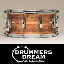"NEW Ludwig USA CopperPhonic 14x6.5"" Snare Drum Dark raw copper finish LC663"