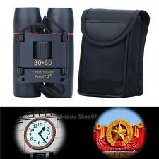30 x 60 Day Night Vision  Zoom Travel Folding Binoculars Telescope + Case