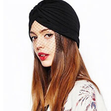 Women's Ladies' Turban Hat Beanie Crochet Head Wrap Cap Hairband With Gauze